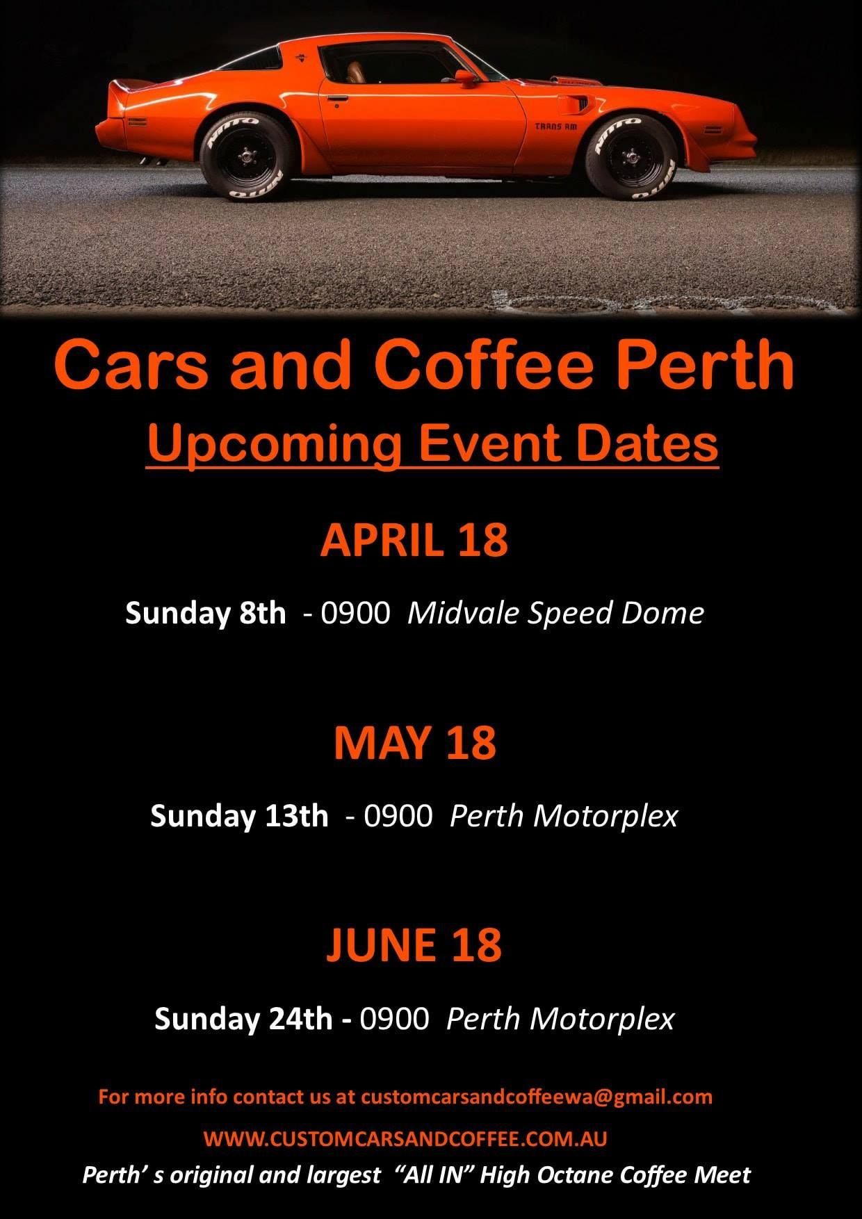 cars and coffee perth
